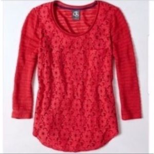 Anthropologie Lace Veiled Pullover
